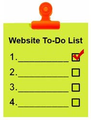 website checklist